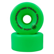 Rollerbones Bones Team Series Narrow - 8 Pack Roller Skate Wheels, Green, medium