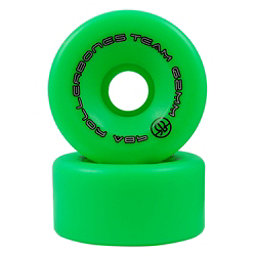 Rollerbones Bones Team Series Narrow - 8 Pack Roller Skate Wheels, Green, 256