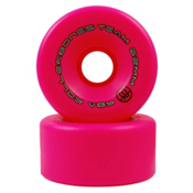 Rollerbones Bones Team Series Narrow Roller Skate Wheels, Pink, medium
