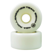 Rollerbones Bones Team Series Narrow - 8 Pack Roller Skate Wheels, White, medium