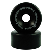 Rollerbones Bones Team Series Narrow - 8 Pack Roller Skate Wheels, Black, medium