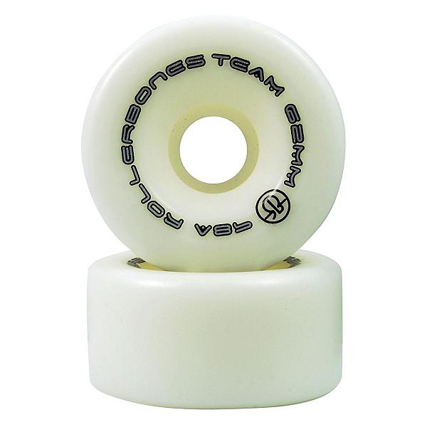 Rollerbones Team Series - 8 Pack Roller Skate Wheels, White, 600