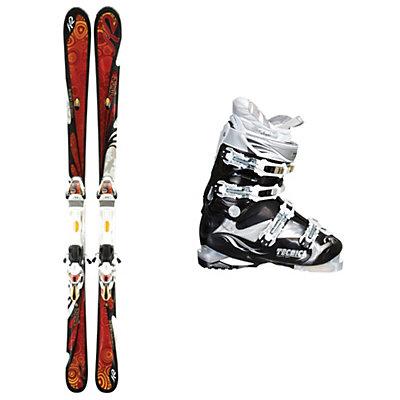 K2 T9 Burnin Luv Womens Ski Package, , large