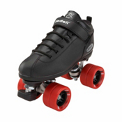 Riedell Dart Black Speed Roller Skates, Black, medium