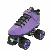 Riedell Purple Dart Speed Roller Skates, Purple, medium