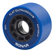 Radar Flat Outrageous Roller Skate Wheels - 4 Pack, 62mm, medium