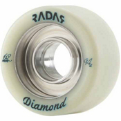 Radar Diamond Roller Skate Wheels - 4 Pack, Natural, medium