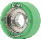 Radar Diamond Roller Skate Wheels - DU92A_4 Pack 2014, Envy Green, medium