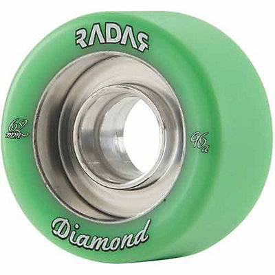 Radar Diamond Roller Skate Wheels - 4 Pack, Blood Red, viewer