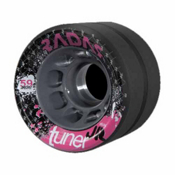 Radar Tuner Jr Sticky Roller Skate Wheels - 4 Pack, Black, medium