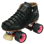 Riedell Torch Womens Derby Roller Skates, Black, medium