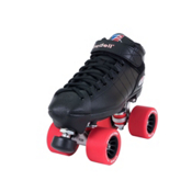 Riedell R3 Girls Derby Roller Skates, Black, medium