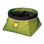 Ruffwear Quencher Dog Bowl, Lichen Green, medium