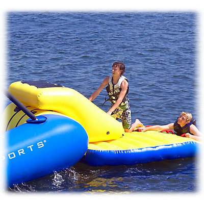 Rave Access Ramp Water Trampoline Attachment, Yellow-Blue, viewer