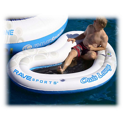 Rave O-Zone Oasis Lounge Water Trampoline Attachment, White-Blue, viewer