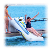 Rave Dock Slide Water Trampoline Attachment, , medium