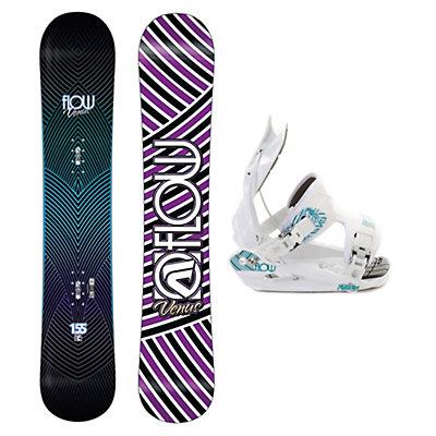 Flow Venus Flite-2W Womens Snowboard and Binding Package, , large