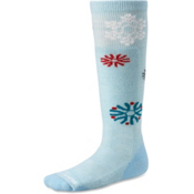 SmartWool Wintersport Snowflake Girls Ski Socks, Blue Print, medium