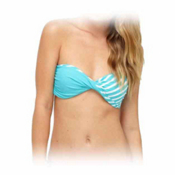 Roxy Bohemian Sunset Twist Bandeau Bathing Suit Top, , medium