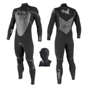 O'Neill Mutant 5/4 with Hood FSW Full Wetsuit 2013, Black, medium