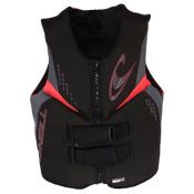 O'Neill Reactor 3 USCG Adult Life Vest, Black-Graphite-Red, medium