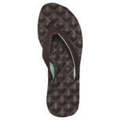Reef Reef Dreams Womens Flip Flops, Brown-Brown-Mint, medium