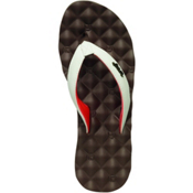 Reef Dreams Womens Flip Flops, Brown-White-Coral, medium