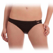 Becca Network Basic Bathing Suit Bottoms, Onyx, medium