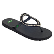 Sanuk Ibiza Kina Womens Sandals, Black, medium