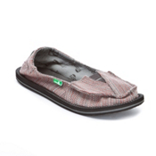 Sanuk Castaway Sunbrella Womens Shoes, Red Stripes, medium