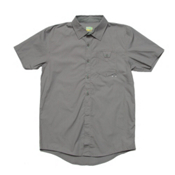 Under Armour UA Pin Drop Woven Solid Shirt, Storm-Storm, medium