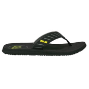 Teva Mush Sola Mens Flip Flops, Black, medium