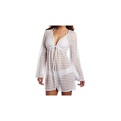 Jantzen Long Sleeve Tunic Bathing Suit Cover Up, , large