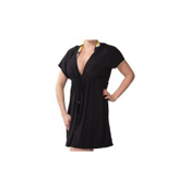 Magic Suit Solid Hoodie Dress Bathing Suit Cover Up, Black, medium