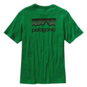 Patagonia Mens Line Logo T-Shirt, Dill, medium
