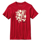 Patagonia Mens Live Simply Camping T-Shirt, Red Delicious, medium