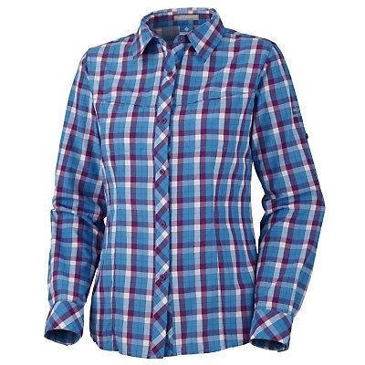 Columbia Bug Shield Plaid Long Sleeve Womens Shirt, , large