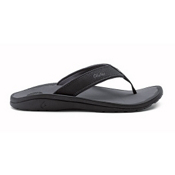 Olukai Ohana Mens Flip Flops, Black-Dark Shadow, medium