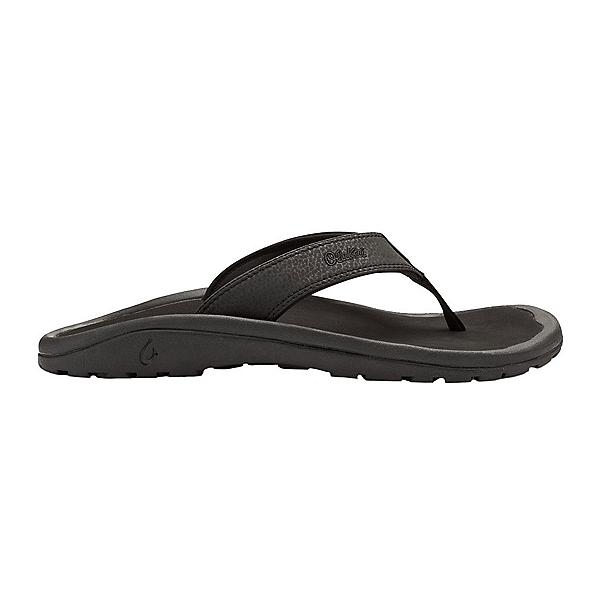 OluKai Ohana Mens Flip Flops, Black-Black, 600