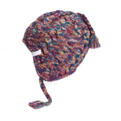 Orage Artic Beanie Womens Hat, Berry, medium