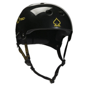 Pro-Tec Classic Bucky Plus Mens Skate Helmet, Gloss Black, medium