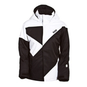 Orage Kaslo Boys Ski Jacket, Black-White, medium