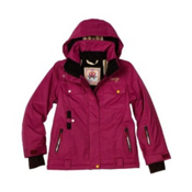 Orage Kaya Pro Girls Ski Jacket, Berry, medium