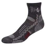 Point6 Hiking Tech Light Mini Crew Socks, Gray, medium