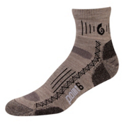 Point6 Hiking Tech Light Mini Crew Socks, Taupe, medium