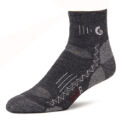 Point6 Hiking Tech Medium Mini Crew Socks, Gray, medium