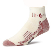 Point6 Hiking Tech Medium Mini Crew - Womens Socks, Natural, medium