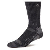 Point6 Hiking Tech Medium Crew Socks, Gray, medium
