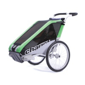 Chariot Carriers Cheetah 1 Stroller, Green-Black-Silver, medium