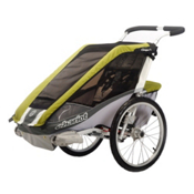 Chariot Carriers Cougar 1 Stroller, Avocado-Silver-Grey, medium